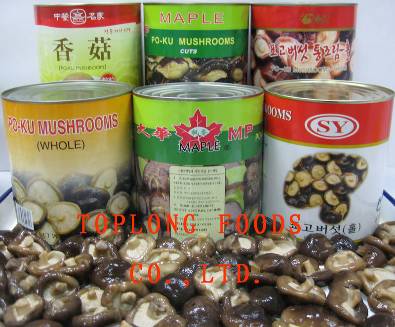 Canned PO-KU (Shiitake) Mushrooms whole