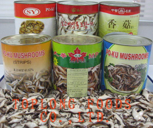 Canned PO-KU (Shiitake) Mushrooms Strips